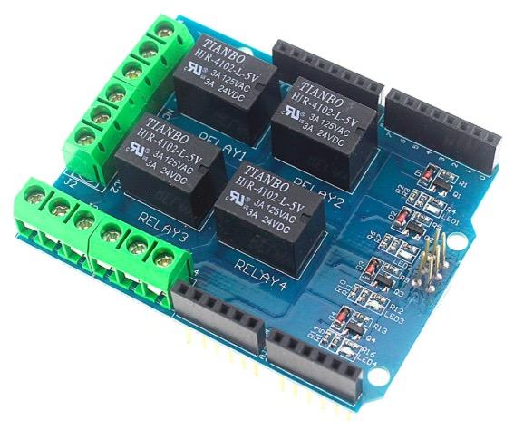 Módulos Control Potencia Módulo Relay 4 Canales 5v Escudo
